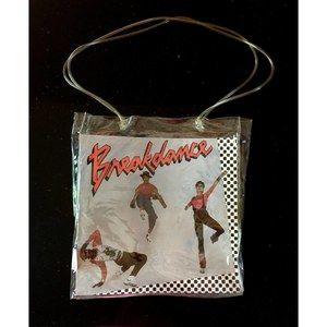 Rare 80's BREAKDANCING Clear Vinyl Bag By Twist O'